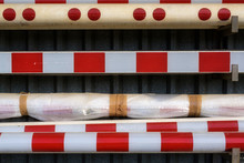 Stored Railway Barriers And Ba...