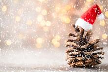 Christmas Decor With Santa Hat...