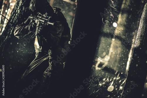 Fotografía  Army Operation at Night