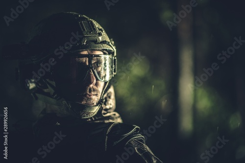 Battle Field Soldier Portrait Wallpaper Mural