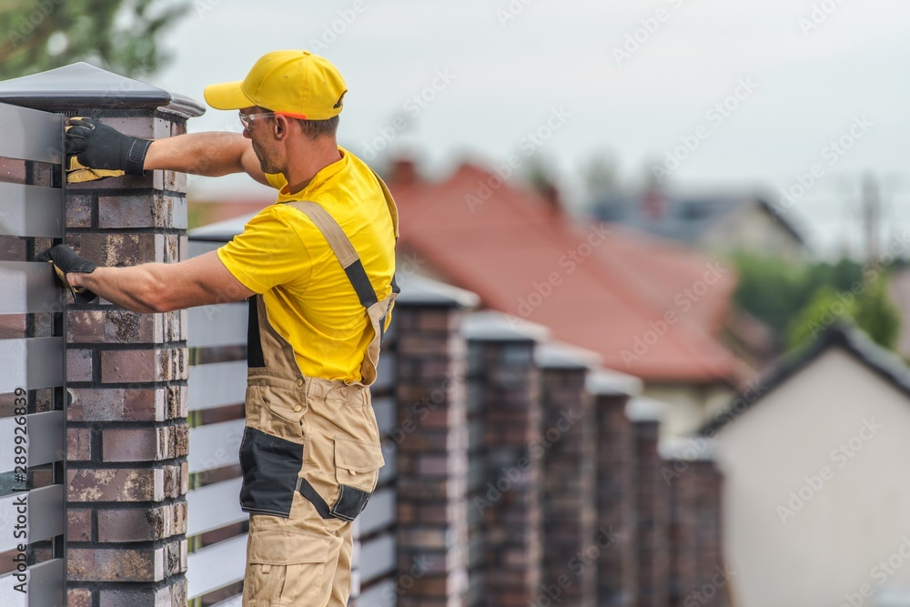 Fototapeta Home Fence Building