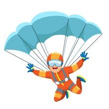 Parachute Skydiver Icon