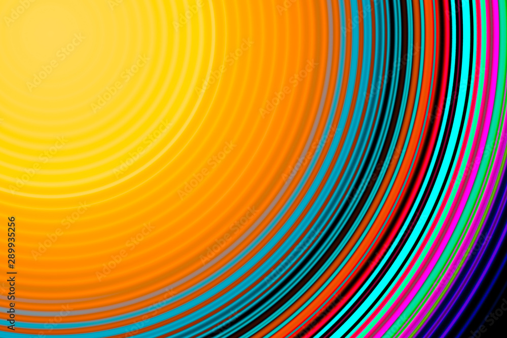 Fototapeta Colorful circular abstract background with circular lines