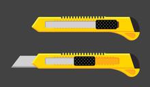 Cutter Knife Vector Blade. Pap...