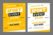 Sport Flyer Design Banner Post...