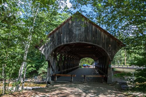 Sunday River Covered Bridge, Bethel, Maine Wallpaper Mural
