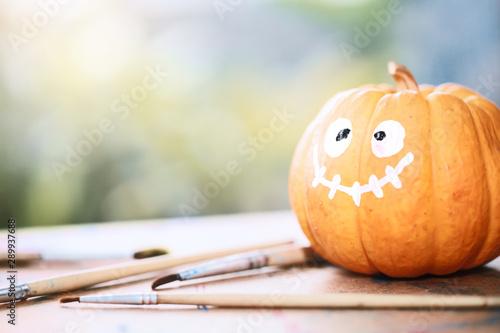 Happy Halloween with a pumpkin Fotobehang