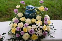 Funeral And Mourning Concept -...