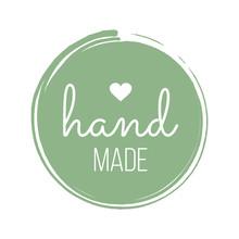 Hand Made With Love Inscriptio...