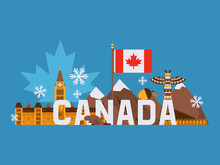 Main Tourist Symbols Of Canada...