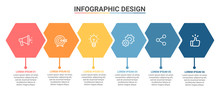 Infographic Template Hexagon D...