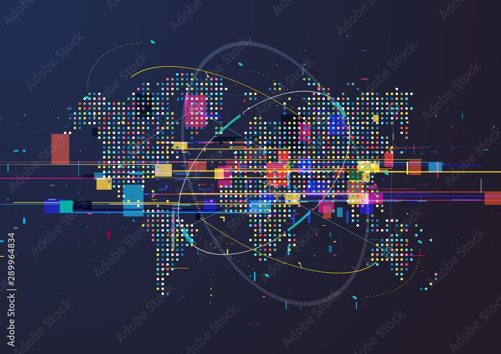 Fototapety, obrazy: World map infographics. Vector background