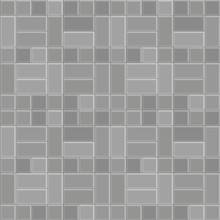 3D Brick Stone Pavement Pattern Texture Background, Vector Gray Floor Walk, Pathway Seamless