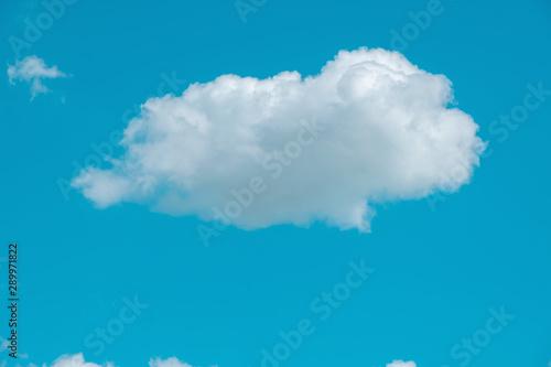 sky clouds, blue fluffy clean, clear Cloudscape beautiful white, bright weather Wallpaper Mural
