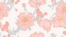 Floral Seamless Pattern, Anemo...