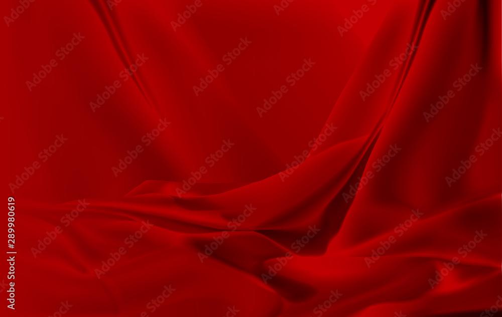 Fototapety, obrazy: red silk cloth background