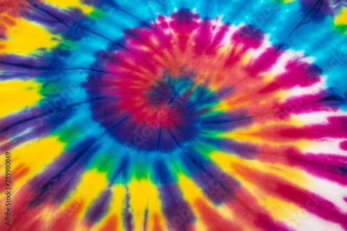 Foto auf AluDibond Boho-Stil rainbow spiral tie dye background