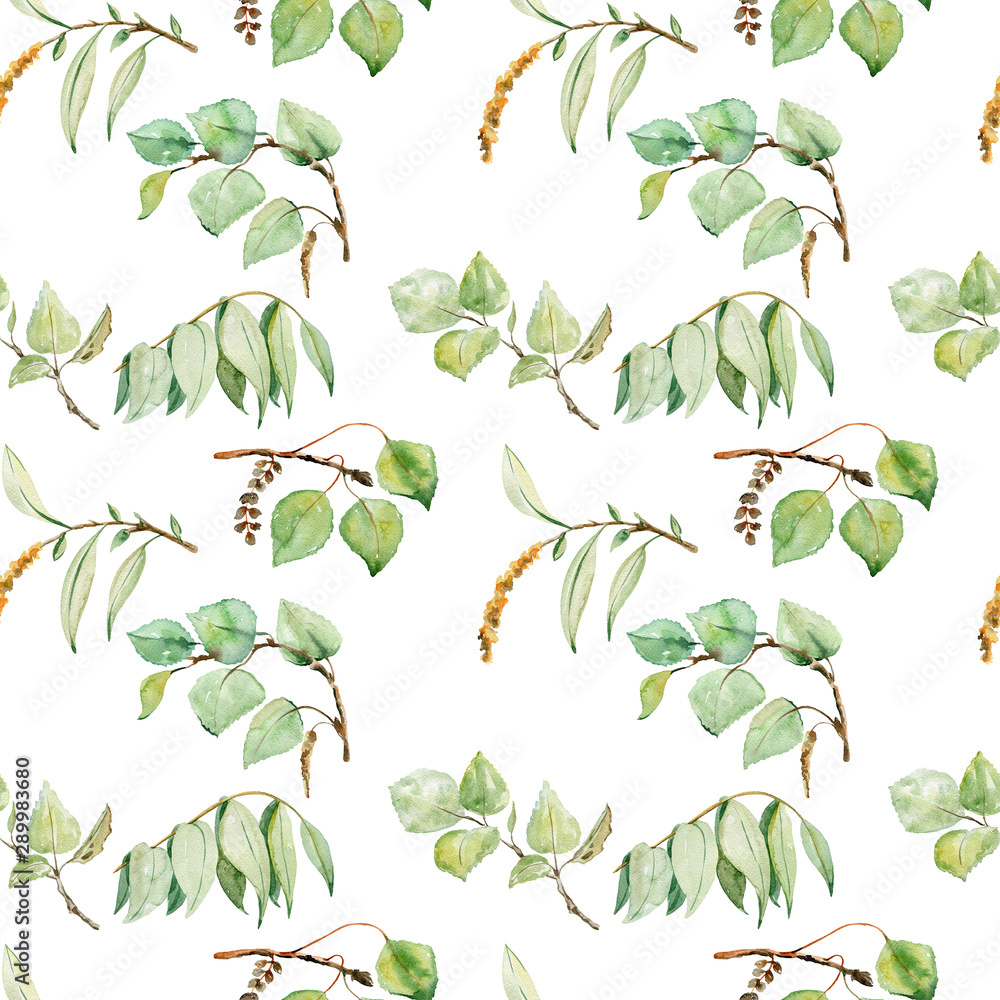 Fototapety, obrazy: watercolor seamless pattern
