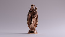 Bronze Mary An Child Statue Fr...