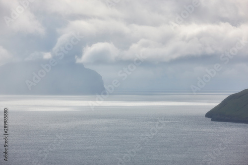 Stormy weather on Faroe islands and atlantic ocean - 289985880