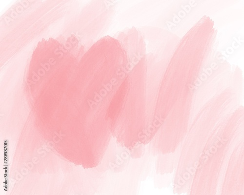 Fotografiet  Water color, pink, white background, used as a background in the wedding and other tasks