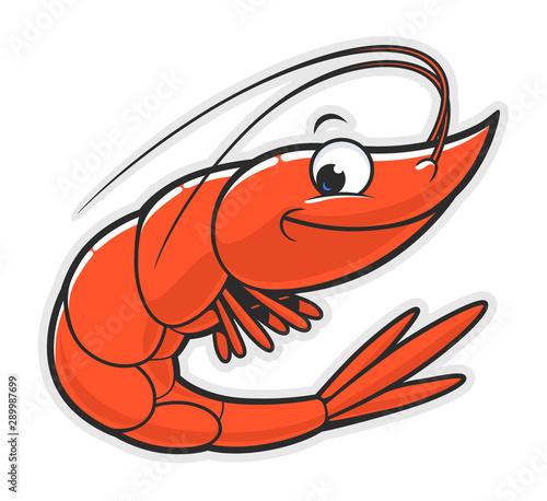 Fotomural  Funny shrimp