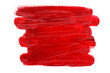 canvas print picture - Abstract red oil painting brush strokes