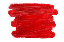 Abstract Red Oil Painting Brush Strokes