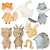 Fototapeta Fototapety na ścianę do pokoju dziecięcego - Woodland Animals Set