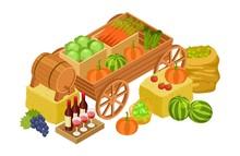 Harvest Market Concept. Isomet...