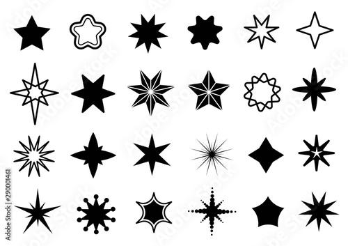 Star shapes set Canvas Print