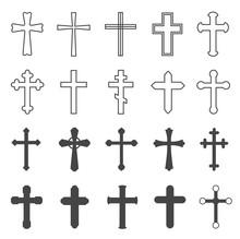 Christian Crosses. Decorative ...