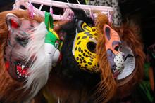 Animal Masks For Carnival Displayed