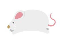 2020 令和二年 子年 年賀状素材イラスト / 走るネズミ