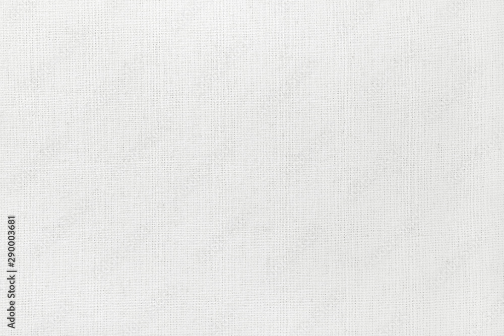 Fototapety, obrazy: White cotton fabric texture background, seamless pattern of natural textile.