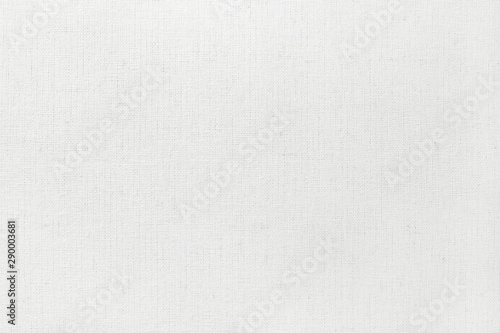 Foto op Aluminium Stof White cotton fabric texture background, seamless pattern of natural textile.