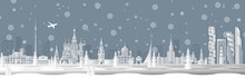 Panorama Of Winter Moscow Vect...