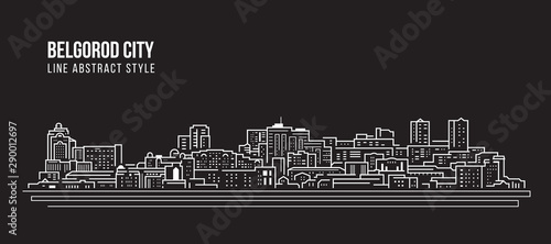 Photo Cityscape Building Line art Vector Illustration design - Belgorod city