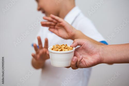 Photo Peanut food allergy concept