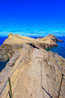 Leinwanddruck Bild - Panorama view of the wild coast and cliffs at Ponta de Sao Lourenco, Madeira island, Portugal