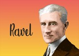 Fototapeta Fototapety Paryż - Maurice Ravel - portrait of great composer