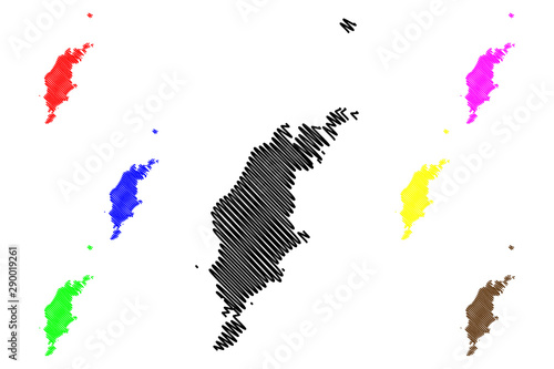 Gotland County (Counties of Sweden, Kingdom of Sweden) map vector illustration, Canvas Print