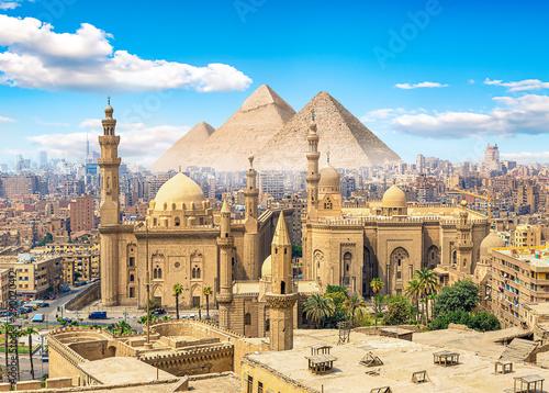 Stampa su Tela  Mosque and pyramids