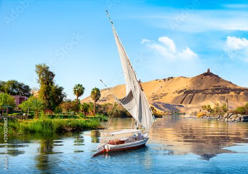 Obraz na płótnie Sailboats on Nile