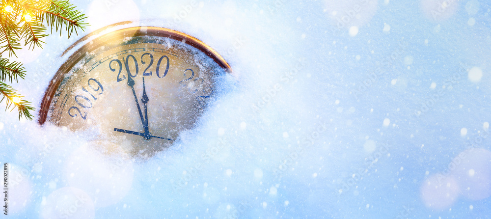 Fototapety, obrazy: 2020 Christmas and new years invitation banner background