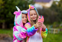 Girlfriends In Unicorn Costume...