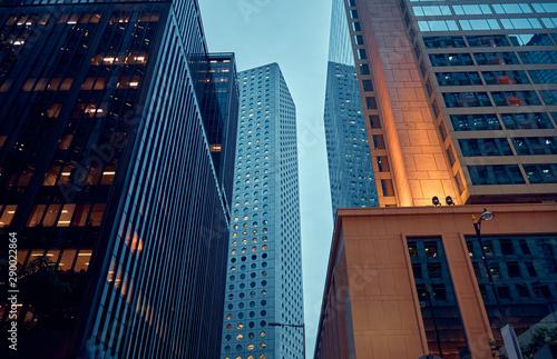 Modern office buildings in Hong Kong. Canvas Print