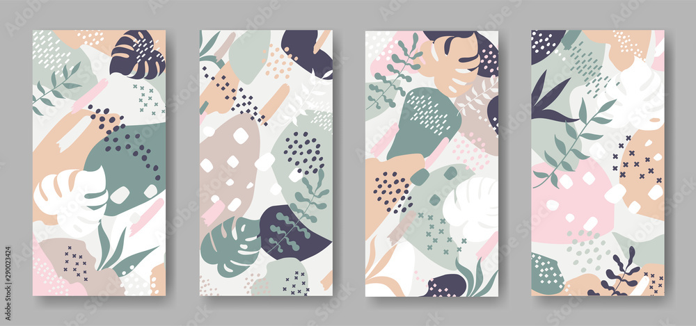 Fototapety, obrazy: Set of vector banners with abstract ornament