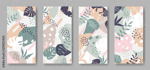 Set of vector banners with abstract ornament