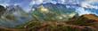 Panorama of Carpathian mountains